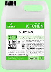Для посудомоечных машин MDW  A-8  5л  концентрат (1:2000) низкопенный для средней жесткости воды  pH12  041-5