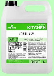 Для кухни GRILL-GEL  5л  гель-концентрат чистка плит, грилей и духовых шкафов t до 60-70°С  pH14  051-5
