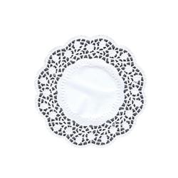 Салфетки кружевные  Ø 15см  100л  Белые PAP STAR 12453  1/20