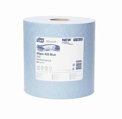 Бумага протирочная TORK Advanced Wiper 420 Blue W1 Perfomance САЛФЕТКА многоцелевая W1 System 1500л 2-сл 510/24 Голубой (БОЛЬШОЙ РУЛОН) 1/1
