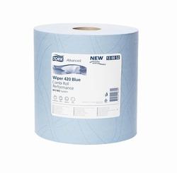 Бумага протирочная TORK Advanced Wiper 420 Blue W1 Perfomance САЛФЕТКА многоцелевая W1/W2 System 750лист 2-сл 255/24 Голубой (МАЛЫЙ РУЛОН) 1/2