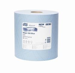 Бумага протирочная TORK Advanced Wiper 430 Blue W1 Perfomance САЛФЕТКА многоцелевая W1 System 1000л 2-сл 340/37 Голубой (БОЛЬШОЙ РУЛОН) 1/1