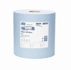 Бумага протирочная TORK Advanced Wiper 440 Blue W1 Perfomance САЛФЕТКА многоцелевая W1 System 750л 3-сл 255/37 Голубой (БОЛЬШОЙ РУЛОН) 1/1