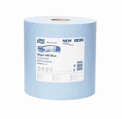 Бумага протирочная TORK Advanced Wiper 440 Blue W1 Perfomance САЛФЕТКА многоцелевая W1/W2 System 350л 3-сл 119/24 Голубой (МАЛЫЙ РУЛОН) 1/2