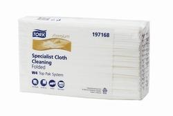 Нетканый материал TORK Premium САЛФЕТКА для очистки поверхностей W4 Top Pak System 150лист 1-сл 38/42 Белый  (ПАЧКА) 1/5