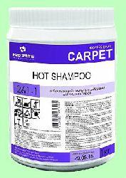 Для ковров порошок HOT SHAMPOO  1кг  с энзимами рабочая  t=40-80°С отбеливающий  pH10  261-1