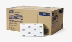 Система полотенец TORK CLASSIC (ZZ): Полотенца TORK Advanced сложение ZZ Н3 CLASSIC system 200листов 2-слоя 25см/23см Зеленый 15упак/коробке