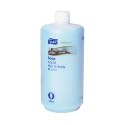 Жидкое мыло-гель для тела и волос TORK Premium 66  S1 System  1л  1/6