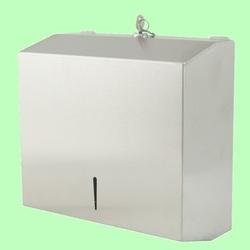 Диспенсер для листовых полотенец V и Z в260*ш282*гл125мм Металл нержавейка матовый 5823SS