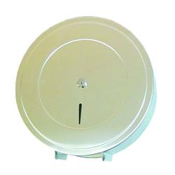 Диспенсер для туалетной бумаги d=310мм*гл125  (т/б d=29см ->525м)  нержавейка матовая с ключом