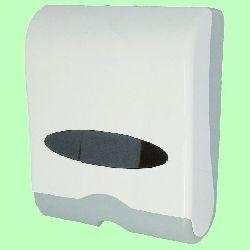 Диспенсер для листовых полотенец V и Z (2 пачки) в330*ш260*гл135мм пластик с ключом 603HW