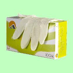 Перчатки латексные Albens текстурированные на пальцах 50пар/уп