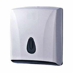 Диспенсер для листовых полотенец V (2 пачки) в260*ш300*гл130мм пластик с ключом
