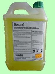 БИОЛЬ-гель 5л (без перекиси водорода) Концентрированное средство для мойки и обезжиривания посуды и оборудования