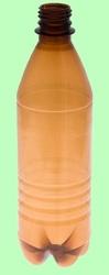 Бутылка ПЭТ 1л с крышкой  Коричневая