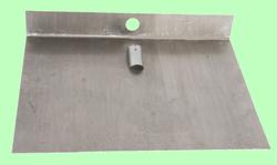 Лопата для снега алюминиевая 3-бортная 500*375 без накладки без черенка