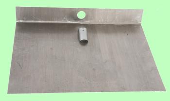 Лопата для снега алюминиевая 3-бортная 600*500 без накладки без черенка