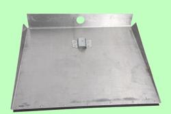 Лопата для снега алюминиевая 3-бортная 500*375 с накладкой без черенка