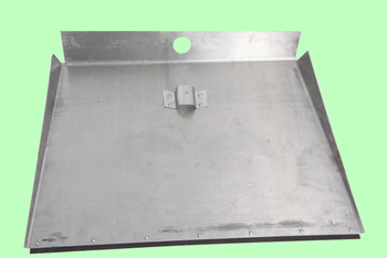 Лопата для снега алюминиевая 3-бортная 600*500 с накладкой без черенка