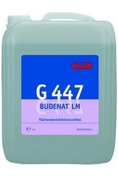 G 447 Budenat LM. Профессиональное концентрированное дезинфицирующее моющее средство. Уровень рН (концентрат): 7.5-8   10л