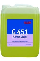 G 451 Combi-Clean. Профессиональное концентрированное сильнодействующее щелочное чистящее и дезинфицирующее средство. Уровень рН (концентрат): 12-13   10л