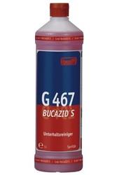 G 467 Bucazid S. Профессиональное концентрированное чистящее средство на основе амидосульфоновой кислоты. Уровень рН (концентрат): 0.5-1   1л