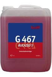 G 467 Bucazid S. Профессиональное концентрированное чистящее средство на основе амидосульфоновой кислоты. Уровень рН (концентрат): 0.5-1 10л