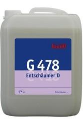 G 478 Entschaumer. Готовый к использованию нейтрализатор активной пены. Уровень рН (концентрат): 6.5-7.8  10л