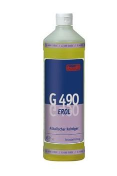 G 490 Erol. Профессиональное концентрированное сильнодействующее щелочное чистящее средство. Уровень рН (концентрат): 12-13   1л