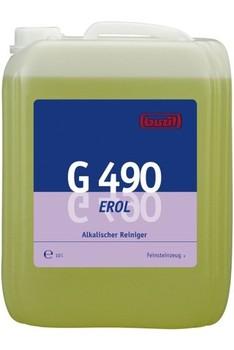 G 490 Erol. Профессиональное концентрированное сильнодействующее щелочное чистящее средство. Уровень рН (концентрат): 12-13   10л