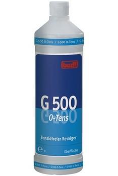 G 500 O-Tens. Профессиональное концентрированное универсальное чистящее средство на основе цитрата, не содержащее поверхностно-активных веществ (ПАВ). Уровень рН (концентрат): 10-10,5   1л