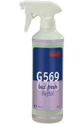 G 569 Buz fresh Refresh. Профессиональный специализированный готовый к использованию освежитель воздуха с функцией продолжительного нейтрализатора запаха. Уровень рН: не применимо  0,5л