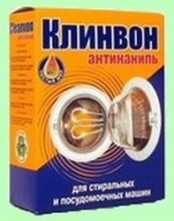 КЛИНВОН Средство для удаления накипи в стиральных.и посудомоечных машинах 400г 1/8