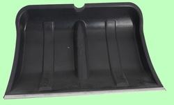 Лопата для снега пластмассовая с накладкой 500*450мм БОГАТЫРЬ с черенком