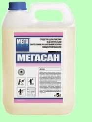 МЕГАСАН 5л Концентрированное средство для чистки и дезинфекции сантехники и кафеля