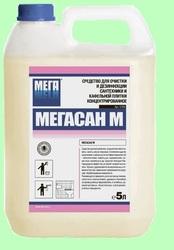 МЕГАСАН-М 5л Концентрированный гель для чистки и дезинфекции сантехники и кафеля