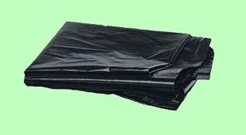 Мешки для мусора ПВД 120л 70*110см  50мкм чёрные 24шт/пласт 10070  10пласт/кор