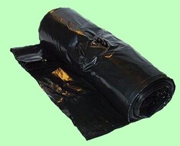 Мешки для мусора ПВД 300л 120*135см 55мкм чёрные 10шт/рул