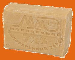 Мыло хозяйственное 72%  200г ММЗ без запаха  1/60