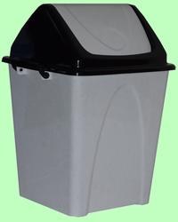 Ведро пластмассовое 7,5л с плавающей крышкой мрамор/черное  Т164