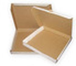 Коробка под пиццу размер 370*370*45мм, цвет белый/бурый