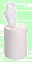 Полотенца в рулонах вытяжные 1-слой 120м d14  h20  влагопрочные Белые  ХХХ  120-1мц  1/12