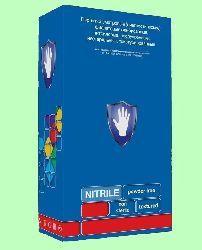 Перчатки нитриловые Safe&Care текстурированные на пальцах LN 303 90пар/уп