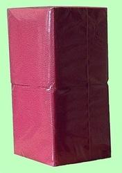 Салфетки бумажные БИГ ПАК  24*24  1слой  400лист  БОРДОВЫЕ интенсив СО  1/18