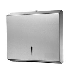 Диспенсер для узких листовых полотенец Z (1 пачка) в250хш262хгл90мм нержавейка матовая с ключом