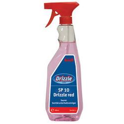SP 10 Drizzle red. Профессиональное специализированное готовое чистящее средство. Уровень рН: 1   0,5л