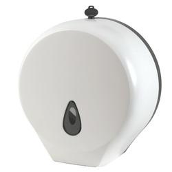 Диспенсер для туалетной бумаги d=271мм*гл130 (т/б до d=25см ->200м) пластик с ключом