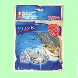 Губка для посуды YORK 0203 металл/спираль МЕГА  1/80