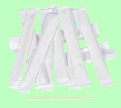 Зубочистки деревянные ПАПИРУС 6,5см  в бумажной индивидуальной упаковке  1000шт